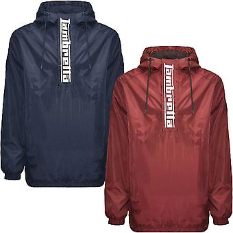 Lambretta Mens Classic Scooter Water Resistant  1/4 Zip Pullover Hooded Jacket