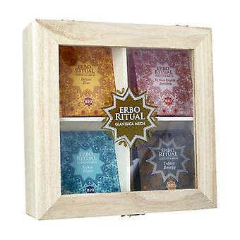 Erbo Ritual Cofanneto Wooden Box with Infusions 4 x 5 infusions
