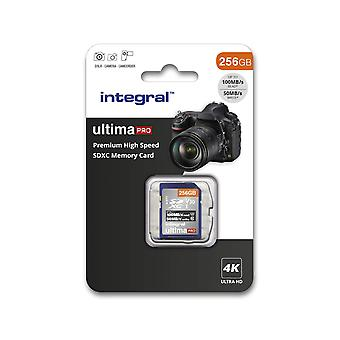 Integral 256gb sd card 4k video premium high speed sd memory card up to 100mb/s v30 uhs-i u3 c10 256