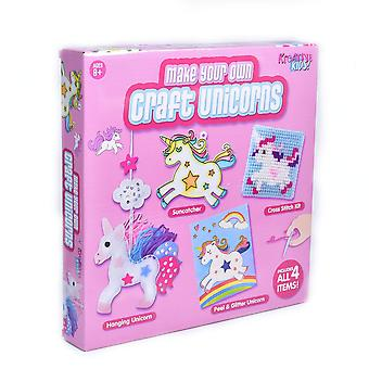 Kreative kids ty1534 4 in 1 unicorn craft set in colour box