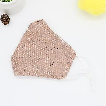 Sequined Masks Personalized Shiny Dustproof Adult Face Masks With Filter Colorful Masks-two Packs