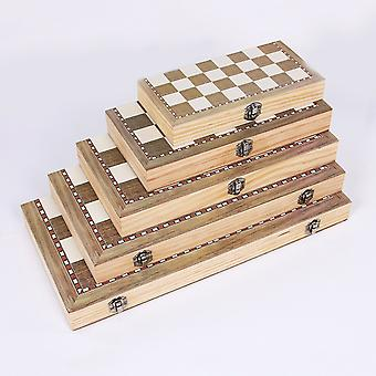 3 In 1 Foldable Wooden Chess Board Set