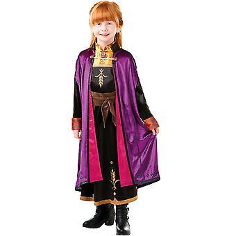Frozen Anna Frozen 2 Deluxe Costume Childrens 7-8 Years