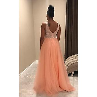 Ärmelloses Abendkleid