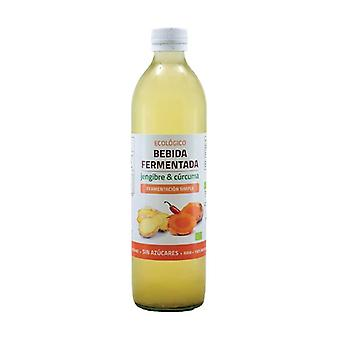 Organic ginger and turmeric fermented drink 500 ml