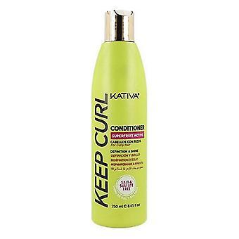 Definierad curlbalsam Kativa Keep Curl (250 ml)