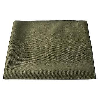 Olijfgroene getextureerde fluwelen zak vierkant