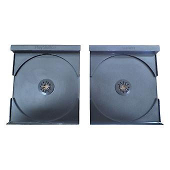 Official replacement insert tray for playstation 1 ps1 game case - 2 pack used