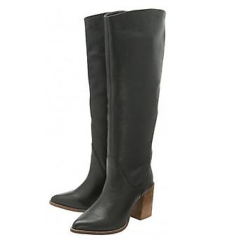 Ravel Lumsden Knee-High Leather Boots  - Black