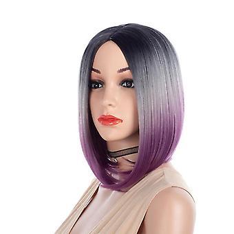 المرأة & apos؛ق أزياء شعر مستعار بوب حلاقة شعر مستعار مستقيم قصيرة