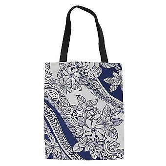 Polynesian Ethnic Grocery Tote Handbag Women's Shopping Bag Portable