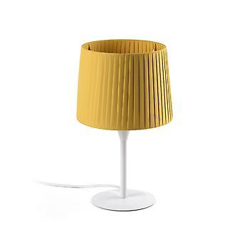 Faro SAMBA - Lámpara de mesa Redonda Cónica Amarilla, E27
