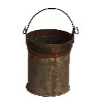 Spura Home Vintage Antique Iron Bucket Set of 2