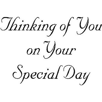 Special Day Thoughts Wood Mounted Stamp