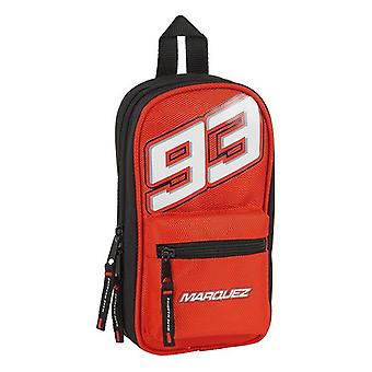 Backpack Pencil Case Marc Marquez Black Red (33 Pieces)
