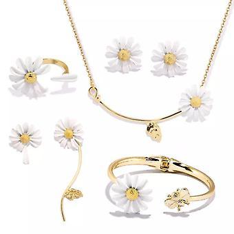 Shiny Side Accessories, Irregular Daisy Flower Stud Earrings, Simple Style