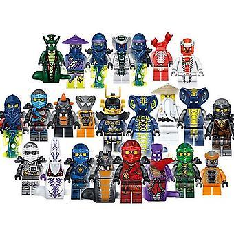 24pcs / viel Kunststoff Mini Ninjago montieren Figur Spielzeug