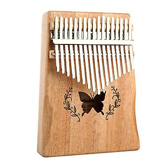 17 Keys Kalimba Thumb Piano Wooden Musical Instrument For Beginners