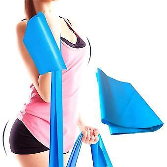 Übungsband / Yogaband 1,5 m Blau