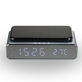 Compteur de température numérique led d'horloge numérique de charge sans fil de Chargeur avec le calendrier pour le dortoir de siège social