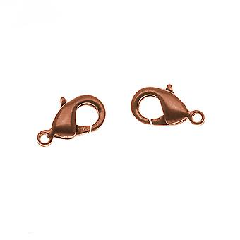 Nunn Design Antiqued Copper Plated Lobster Clasps 12mm (2)
