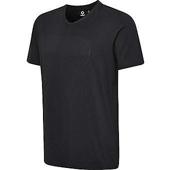 hummel - Men's T-shirt Hmldylan, Men's, Men's, 202943-2001, Black, XXL