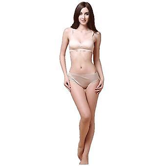 Women Underwear Sexy Briefs Low Waist 100% Real Silk Underwear Panties Briefs Female Underpants