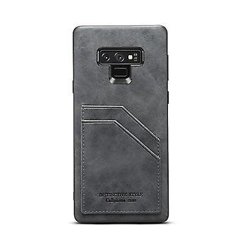 חריץ לכרטיס מארז עור ארנק עבור Huawei mate20pro אפור כהה no2837