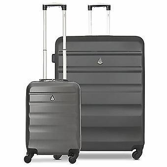 Ensemble de bagages à bagages à coque dure léger Aerolite (cabine et gros charbon de bois)