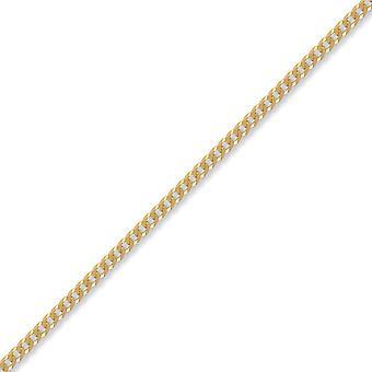 ジュエルコ ロンドン ユニセックス ソリッド 9ct イエローゴールドフラット縁石 3.6mm ゲージ チェーン ネックレス