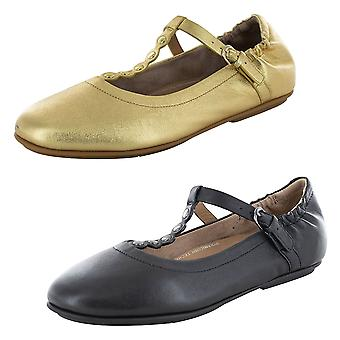 Fitflop Womens Scallop Embelli T-Bar Ballet Flat Shoes