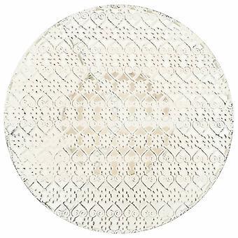 vidaXL Bistro Tafel Vintage Style Round Metal 40 x 70 cm Wit