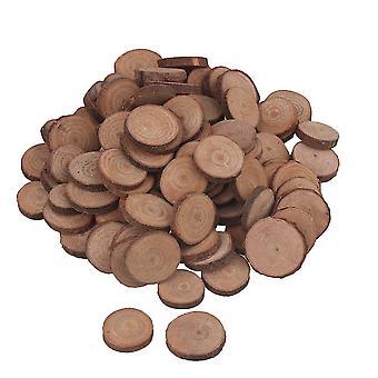Für 100pcs 2-3CM Holz Scheiben Runde Log Scheiben für Kunst & Handwerk & Ornamente WS2203