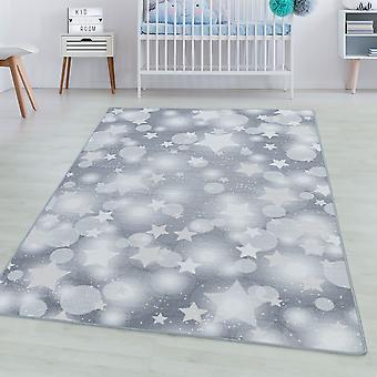 Kinderkamer tapijt GAME korte stapel kinderen tapijt spelen tapijt ster punten