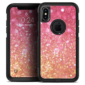 Glowing Pink And Gold Orbs Of Light - Skin Kit For The Iphone Otterbox