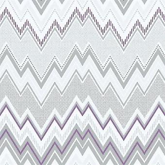 Tempo Zig Zag Purple Grey Wallpaper