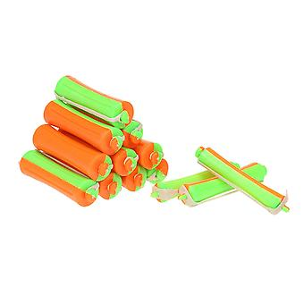 10 Pieces 0.6cm Curler Perm Rods Perm Rods With Perm Rod Bands Cold Rods Assorted Sizes