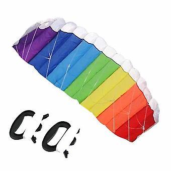 Linea in nylon morbida più materiale paracadute arcobaleno sport beach kite