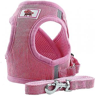 Soft Training Harness Vest Mesh Fabric Dog Vest Harnesses For Puppy, Cats, Small Animals Ps042 (l, Pink)