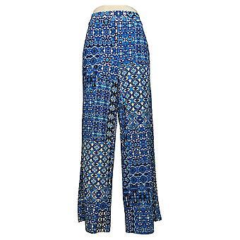 Isaac Mizrahi Live! Women's Pants Regular Pebble Knit Wide-Leg Black A394810