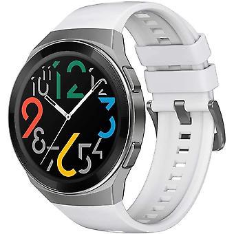 Montre intelligente HUAWEI Watch GT 2e, écran tactile AMOLED HD de 1,39 pouce, autonomie de la batterie de 2 semaines, GPS et GLONASS, détecte automatiquement 6 modes sport, 15 suivi des activités sportives, SpO2, surveillance de la fréquence cardiaque (blanc)