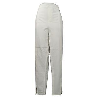 Isaac Mizrahi Live! Dames broek enkel voor spleet wit A378236