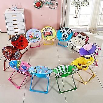 Barn Sammenleggbar Strandstol Liten Måne Hvilestol Baby Tegneserie Ryggstøtte Barn Stol Sklisikker
