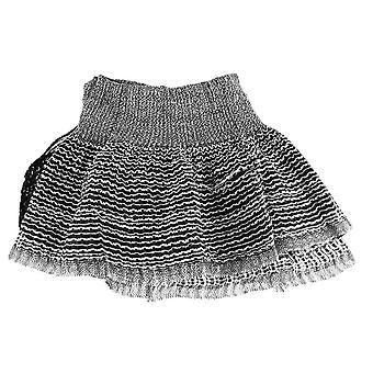 Black & White Metallic Stretchy Hip Scarf