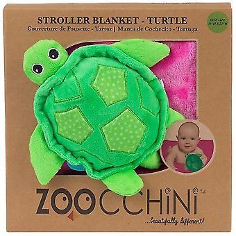 Zoocchini Fleece Stroller Buddy Blanket Turtle