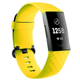Fitbit Charge3 / Charge4 Silicone Sports Tape - Yellow (s / M Code)