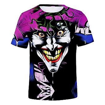 Neue Persönlichkeit Clown 3d gedruckt Kurzarm Rundhals T-shirt