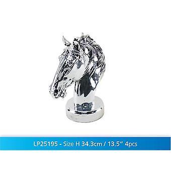"13,5"" Silber Kunst Pferd Büste dekorative Ornament Display Figur Geschenkidee"