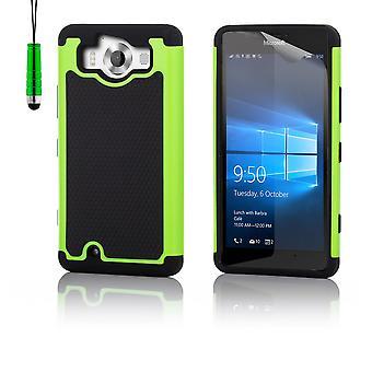 Caso di prova di urto + stilo per Microsoft Lumia 950 - verde