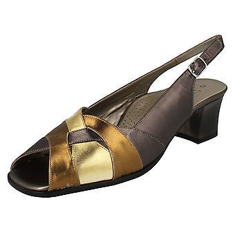 Ladies Da Bella Peep Toe Block Heel Venice